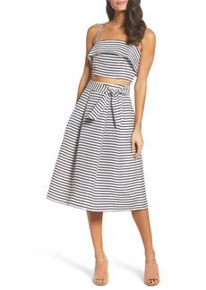BB Dakota Grace Stripe Two-Piece Dress