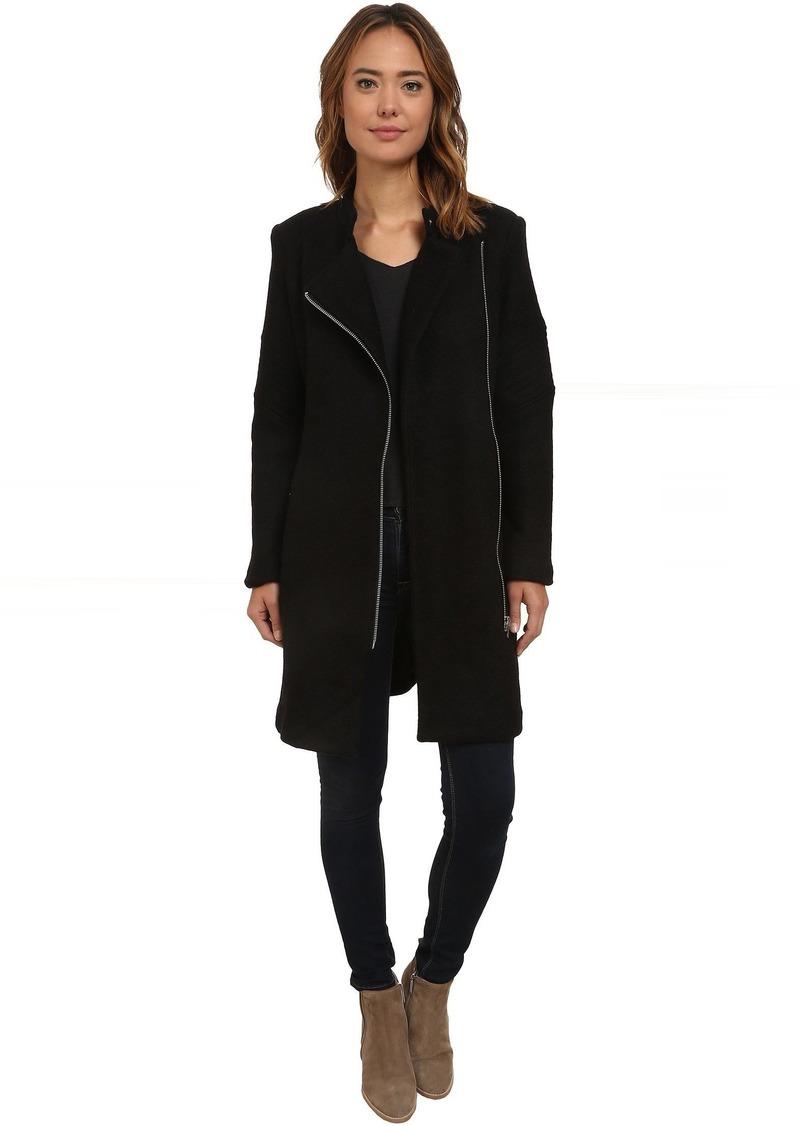 BB Dakota Grayson Boiled Wool Coat with Sleeve Detail