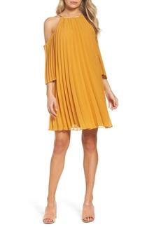 BB Dakota Gretal Cold Shoulder Pleated Dress