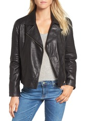 BB Dakota Harwick Leather Moto Jacket