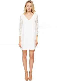 BB Dakota Helene Lace Sleeve Shift Dress