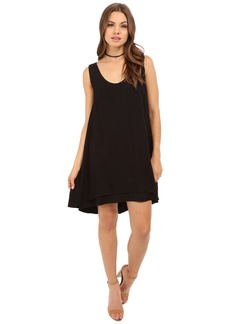 BB Dakota Henley Rayon Twill Double Layer Dress