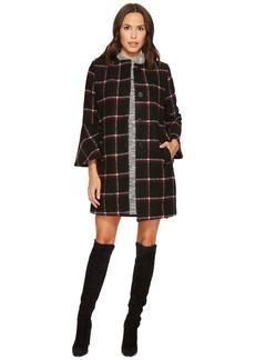 BB Dakota Hewes Plaid Coat with Bell Sleeves