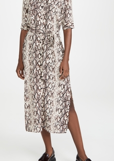 BB Dakota Hither & Slither Snake Print Shirtdress