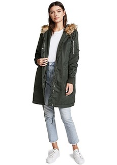 BB Dakota Hooded Anorak with Faux Fur Trim