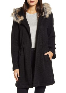 BB Dakota Hooded Coat with Faux Fur Trim