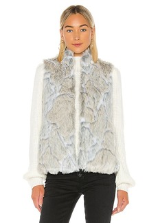 BB Dakota In A Furry Faux Fur Vest