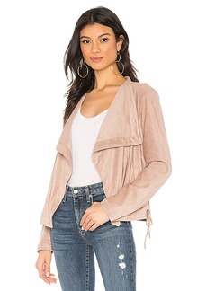 BB Dakota In Great Drape Faux Suede Jacket