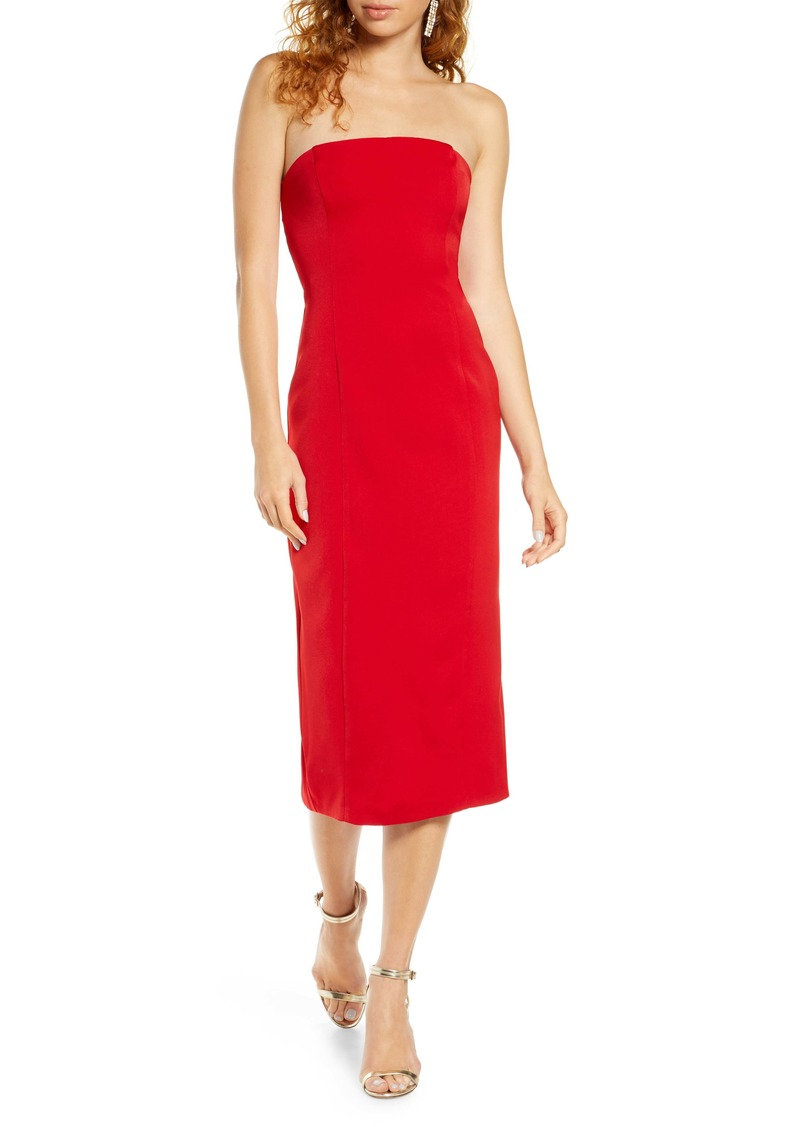 BB Dakota Isn't It Iconic Strapless Crepe Dress