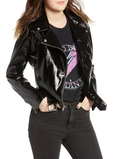 BB Dakota It's Electric Vinyl Moto Jacket