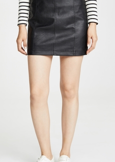 BB Dakota Jack By BB Dakota So Edgy Vegan Leather Skirt