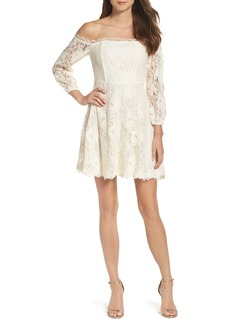 BB Dakota Jasmin Off the Shoulder Lace Dress