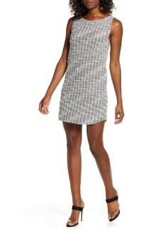 BB Dakota Jazlyn Stretch Tweed Shift Minidress