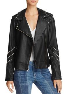 BB DAKOTA Jerilyn Studded Faux Leather Moto Jacket