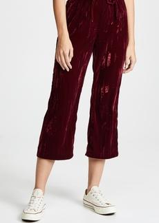 BB Dakota Jog In My Memory Pleated Velvet Pants