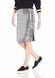 BB Dakota Junior's All Night Sequin Skirt with Side Slit  Extra Small