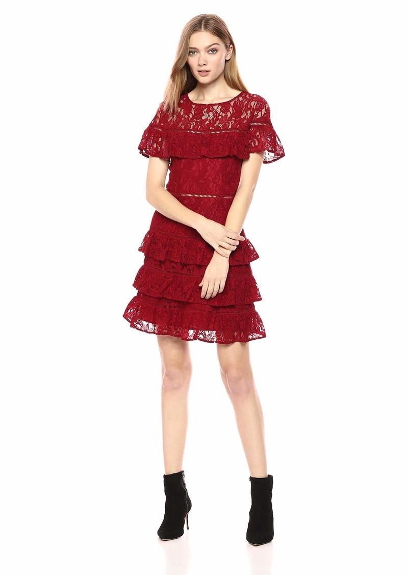 BB Dakota Junior's Aphrodite Tiered Ruffle Dress