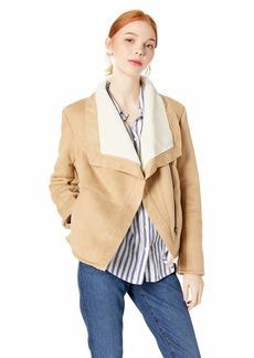 BB Dakota Junior's Autumn in Newyork Faux Suede Bonded Shearling Jacket
