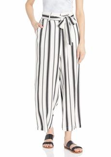 BB Dakota Women's Belt with You Printed Stripe Heavy Rayon Pant  medium