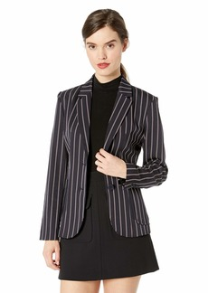 BB DAKOTA Junior's Blaze it Fitted Stripe Blazer oilslick