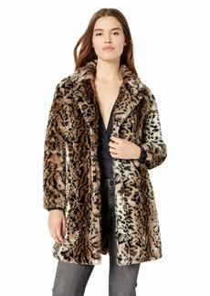 BB Dakota Junior's Bradshaw Leopard Faux Fur Coat