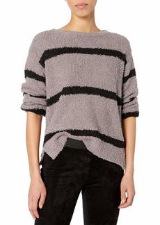 BB Dakota Junior's Deal Fuzzy Chenille Stripe Sweater
