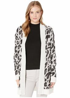 BB Dakota Junior's Feline Myself Leopard Jacquard Cardigan  Extra Small