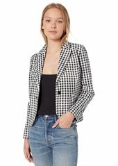 BB Dakota Women's Gingham Style Fitted Blazer