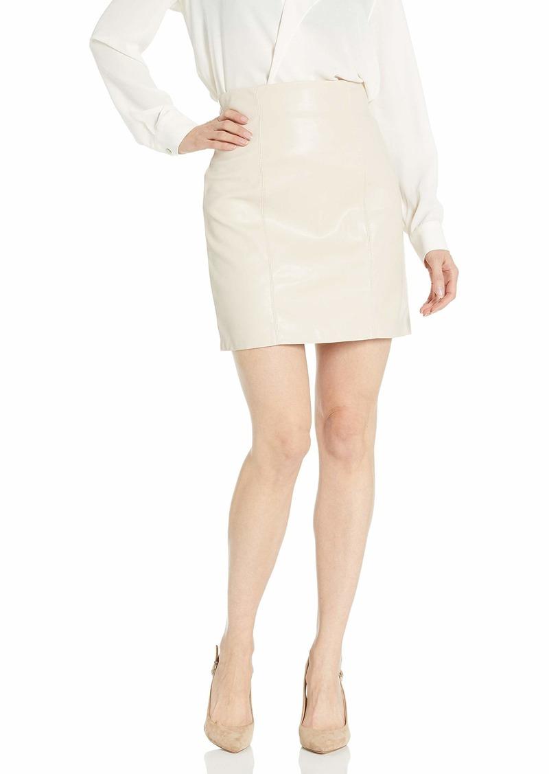 BB Dakota Junior's Girl Crush High Waisted Vegan Leather Skirt