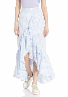 BB Dakota Junior's go Gingham Tiger Yarn Dyed Skirt