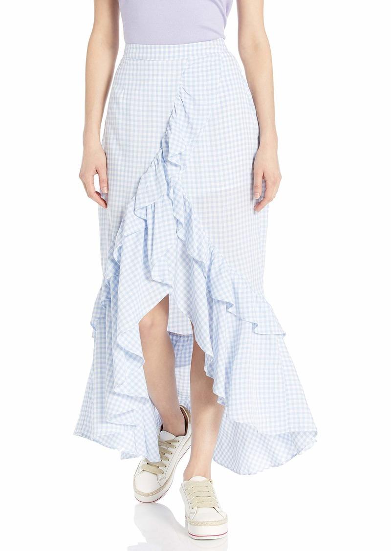 BB Dakota Junior's go Gingham Tiger Yarn Dyed Skirt