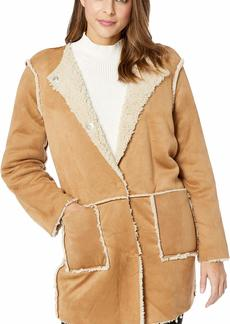 BB Dakota Junior's Had Me at Hello Reversible Faux Suede Sherpa Jacket