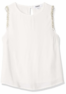 BB Dakota Junior's Happy Days Crepe Embellished Shoulder top