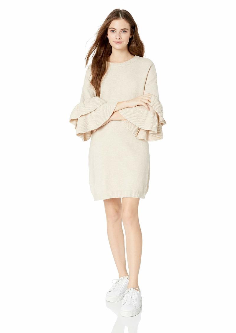 BB Dakota Junior's Honey Ruffle Sleeve Sweater Dress