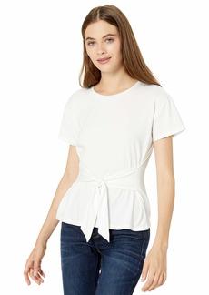 BB Dakota Junior's Instagram Famous Cotton Jersey tie Front t-Shirt