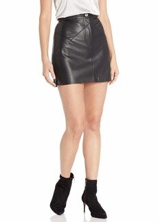 BB Dakota Junior's Keep Livin' Vegan Leather Mini Skirt