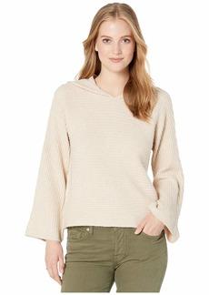 BB Dakota Junior's Knock Cable Knit Hooded Sweater
