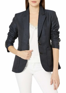 BB DAKOTA Junior's Like Lurex Dot Jacquard Blazer