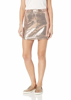 BB Dakota Junior's Modern Love Sequin Mini Skirt