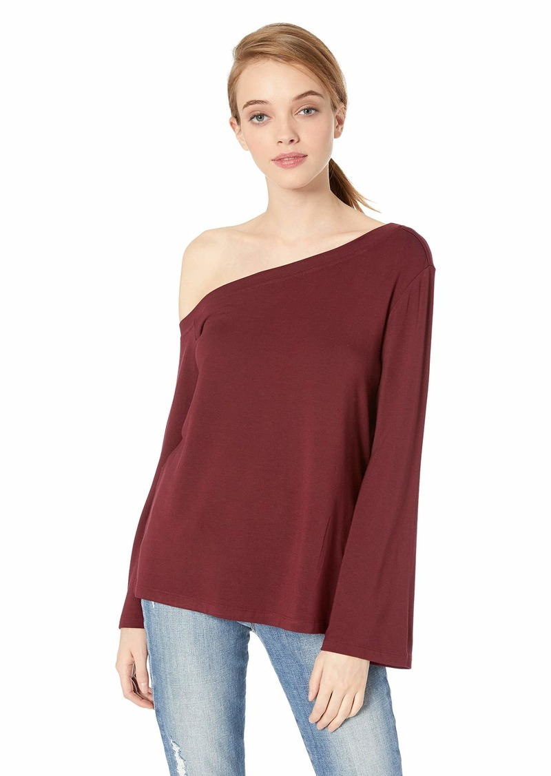 BB Dakota Junior's Mostly Good French Terry One Shoulder Top