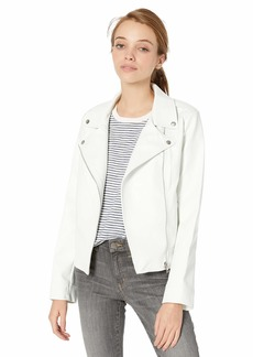 BB Dakota Junior's Moto Finish Textured Vegan Leather Jacket