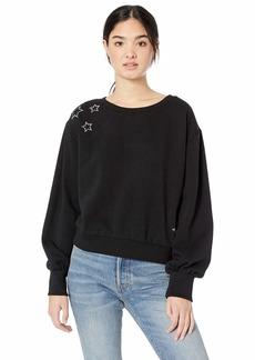 BB Dakota Junior's Northern Lights Fleece Star Embellished Sweatshirt