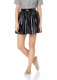 BB Dakota Junior's not a Wall Flower Vinyl Skirt