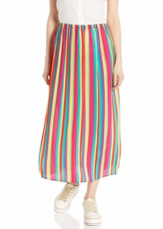 BB Dakota Junior's Outside The Lines Striped Reverse Crepon Pleated Skirt  Extra Small
