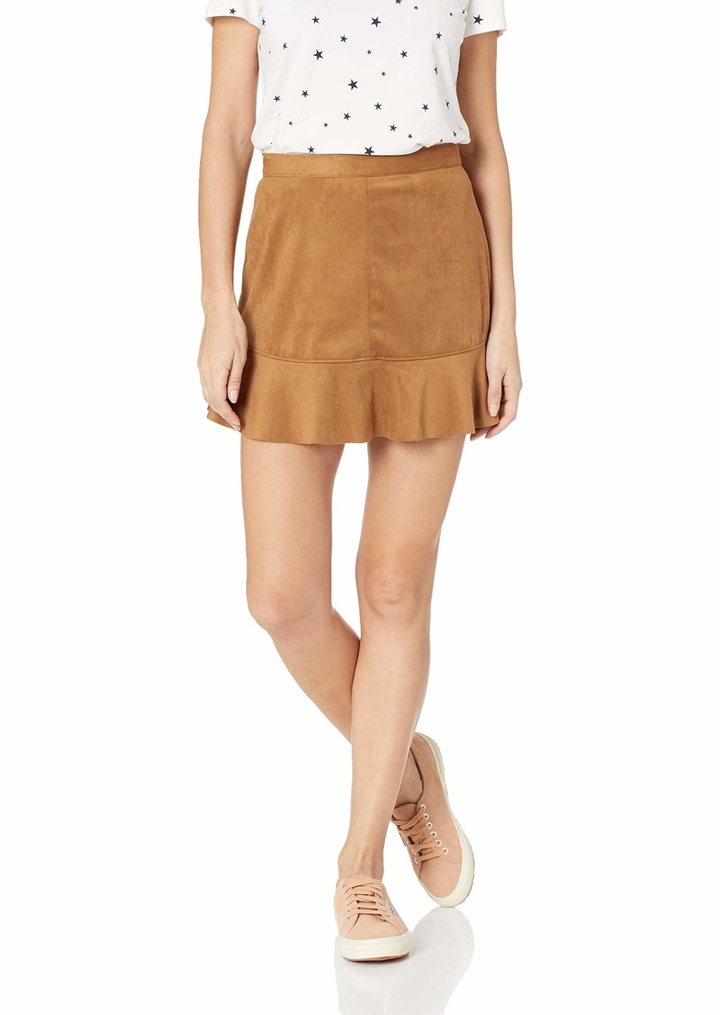 BB Dakota Women's Run This Town Faux Suede Skirt