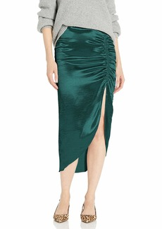 BB Dakota Junior's Shiny Dancer Tumbled Satin Ruched Skirt