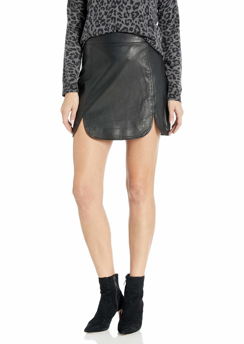 BB Dakota Junior's Slit & Run Leather Skirt
