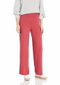 BB Dakota Junior's Star Brushed Rib Smocked Wide Leg Pant Earth red