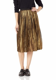 BB Dakota Junior's Trouble Pleated foil Print Skirt