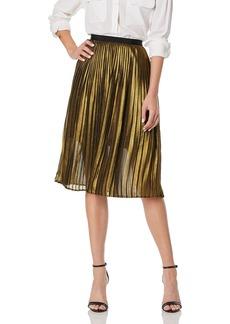 BB DAKOTA Junior's Trouble Pleated foil Print Skirt